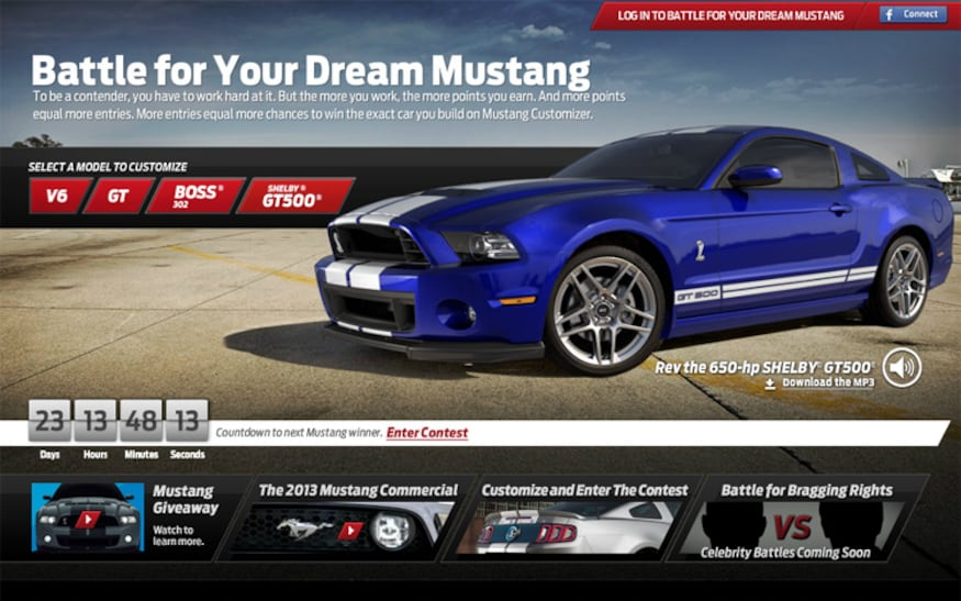 Customize Your Car Online >> Design Car Online Win Real Life 2013 Ford Mustang Automobile
