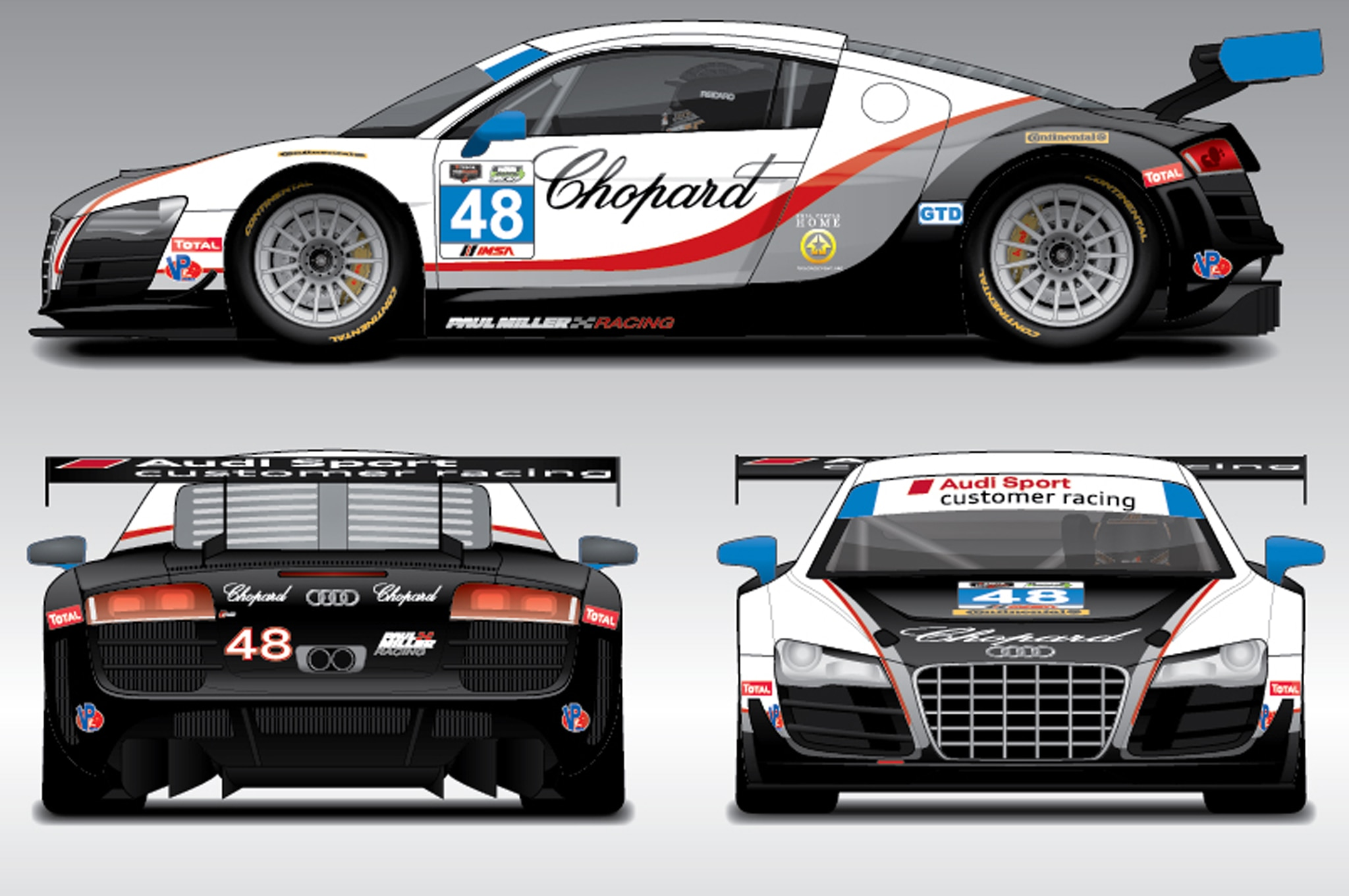 audi releases liveries for daytona r8 endurance racers