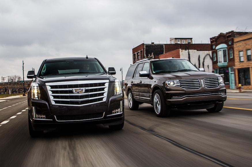 Lincoln Vs Cadillac >> 2015 Cadillac Escalade Vs 2015 Lincoln Navigator Comparison