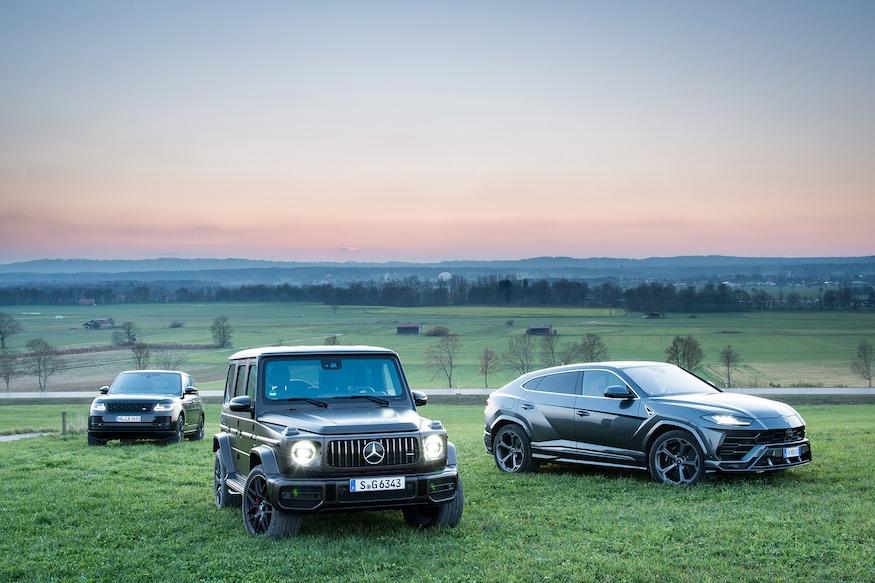 2019 Lamborghini Urus vs 2019 Mercedes AMG G63 vs 2019 Range Rover Vogue 44