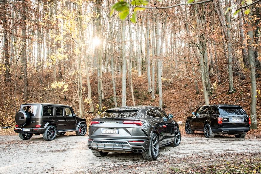 2019 Lamborghini Urus vs 2019 Mercedes AMG G63 vs 2019 Range Rover Vogue 82