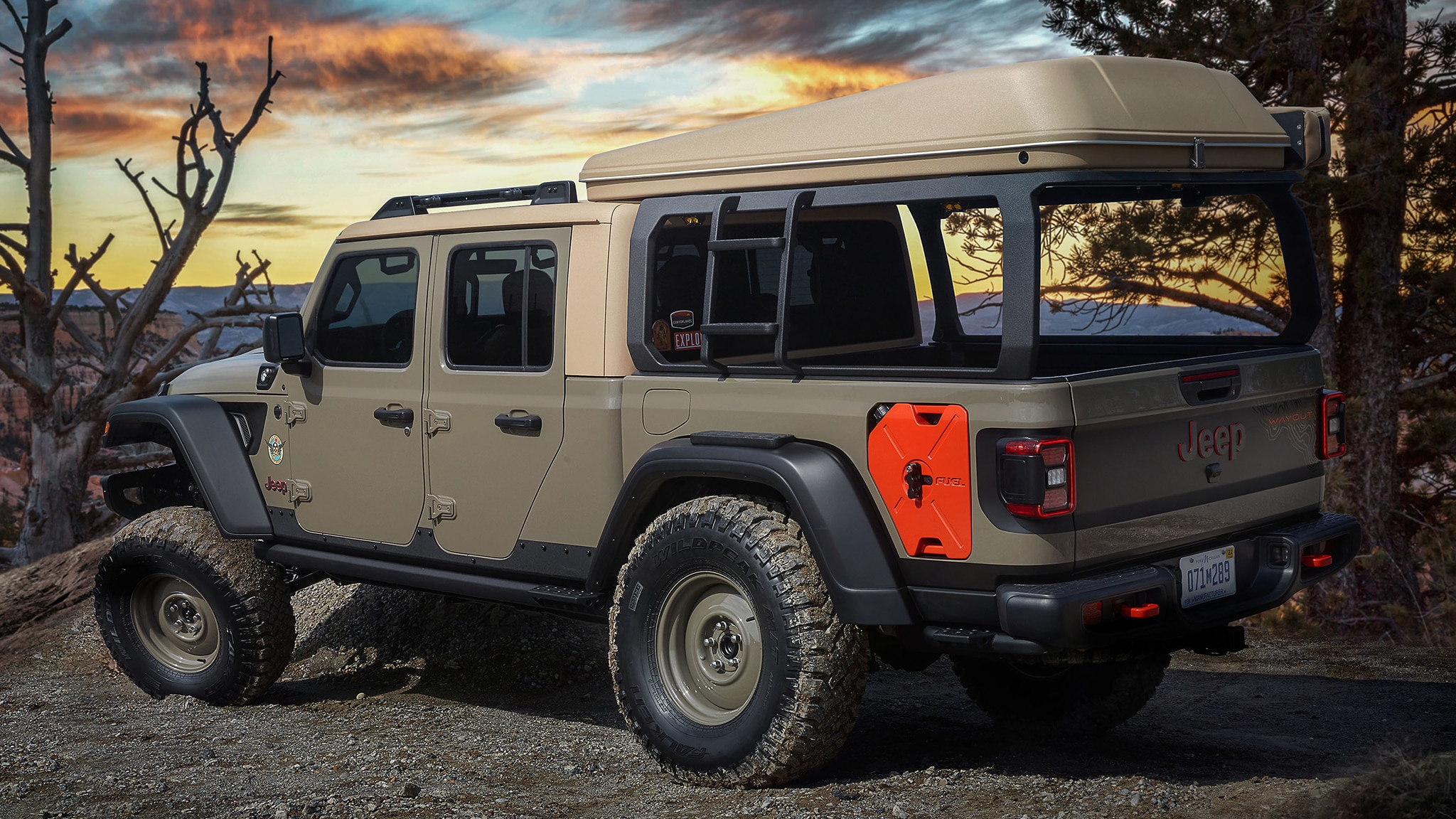the jeep wayout is the overland gladiator pickup of our dreams