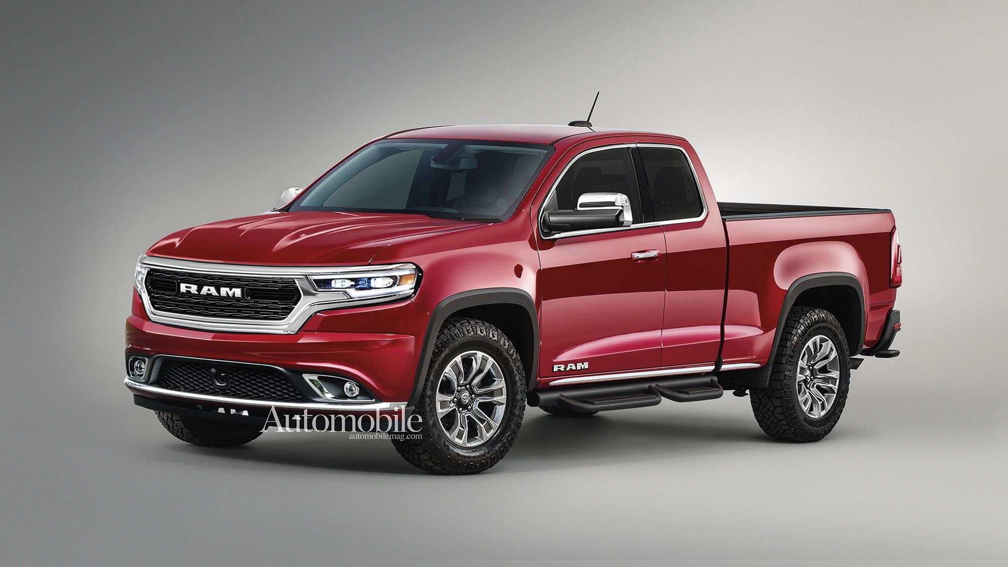 2021 Ram Dakota Midsize Pickup Truck Renderings Rumors