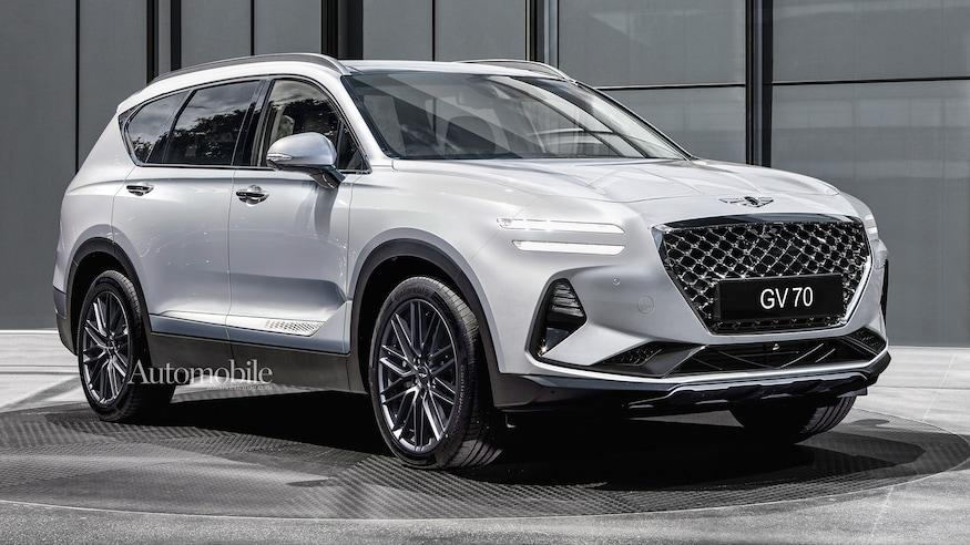 2022 Genesis GV70 SUV Rendering + Rumors