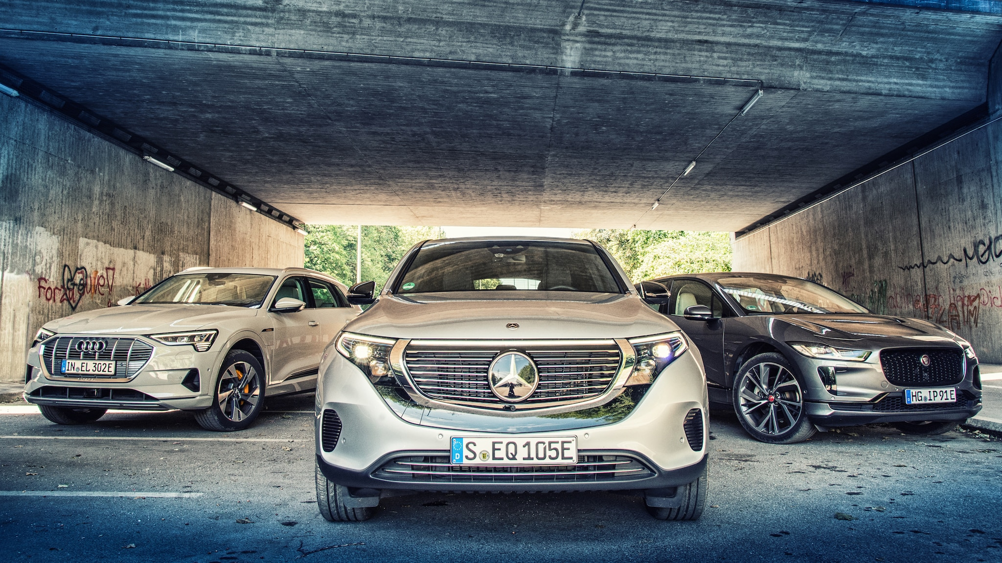 EV SUVs Compared: Mercedes EQC vs. Audi e-tron, Jaguar I-Pace | Automobile Magazine