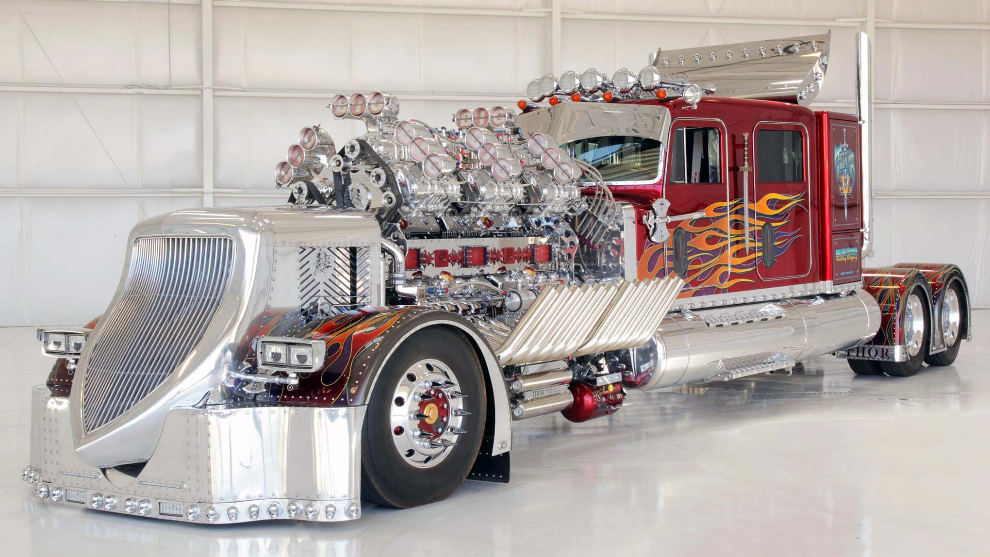 THOR 24 Is the 3,424-HP, 24-Cylinder, 12-Blower Semi of Doom | Automobile
