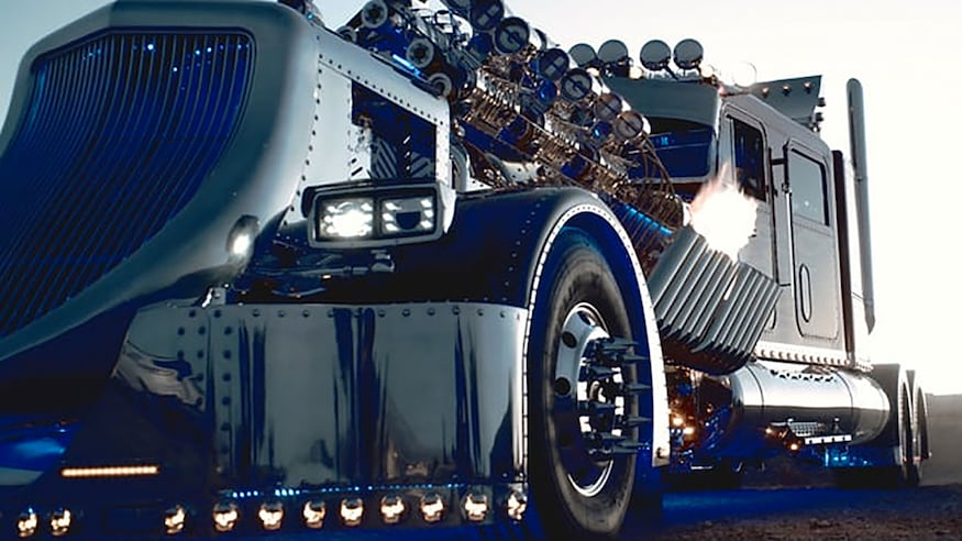 1984 peterbuilt custom big rig thor front