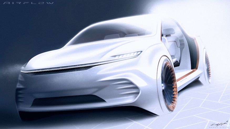 Fiat Chrysler Airflow Vision Concept Front View 2