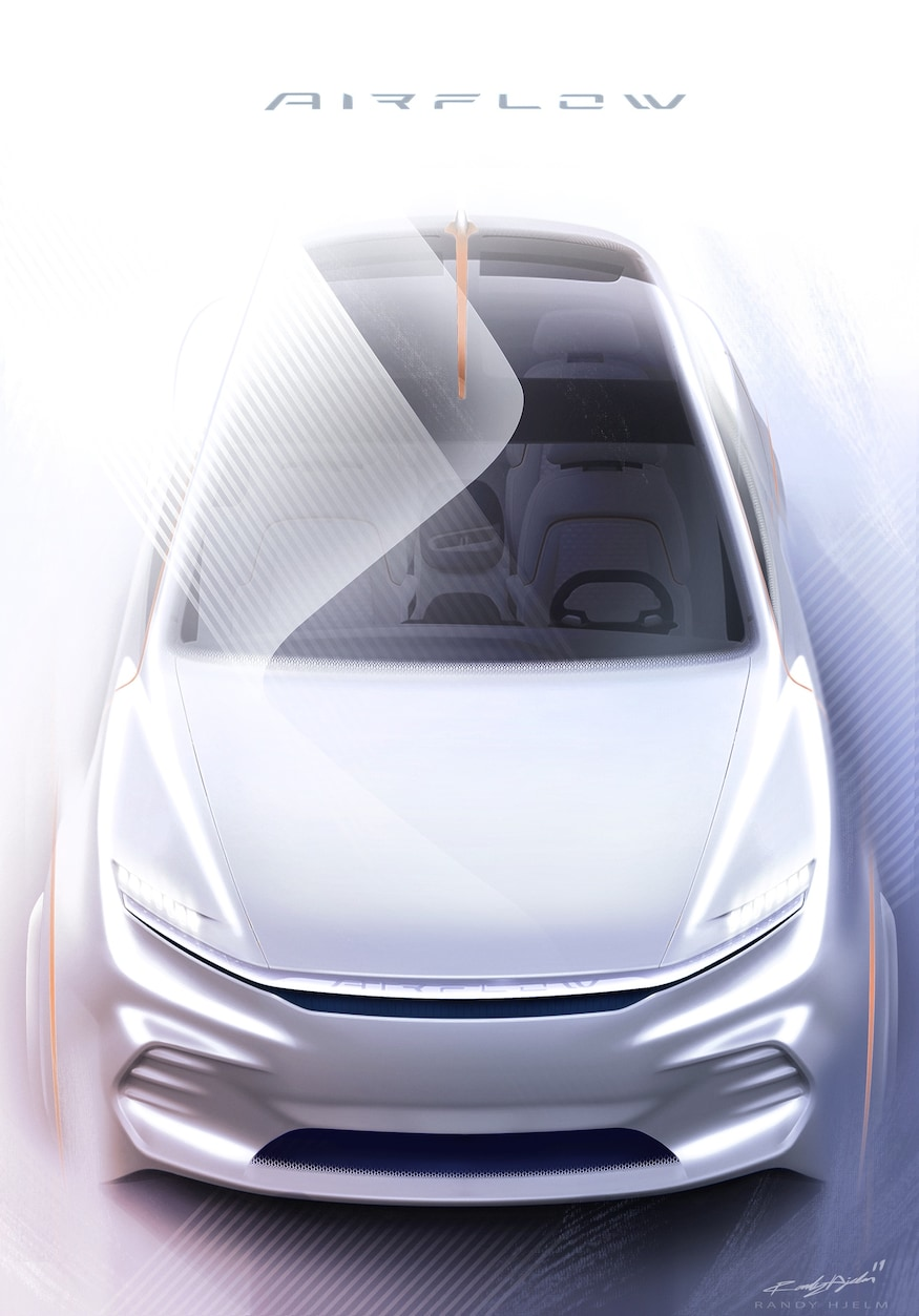 Fiat Chrysler Airflow Vision Concept Overhead View