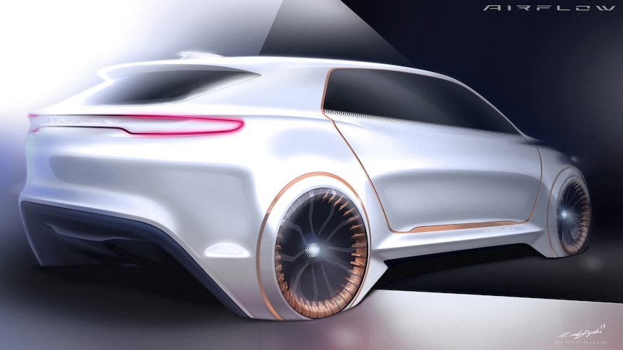 Fiat Chrysler Airflow Vision Concept Rear View