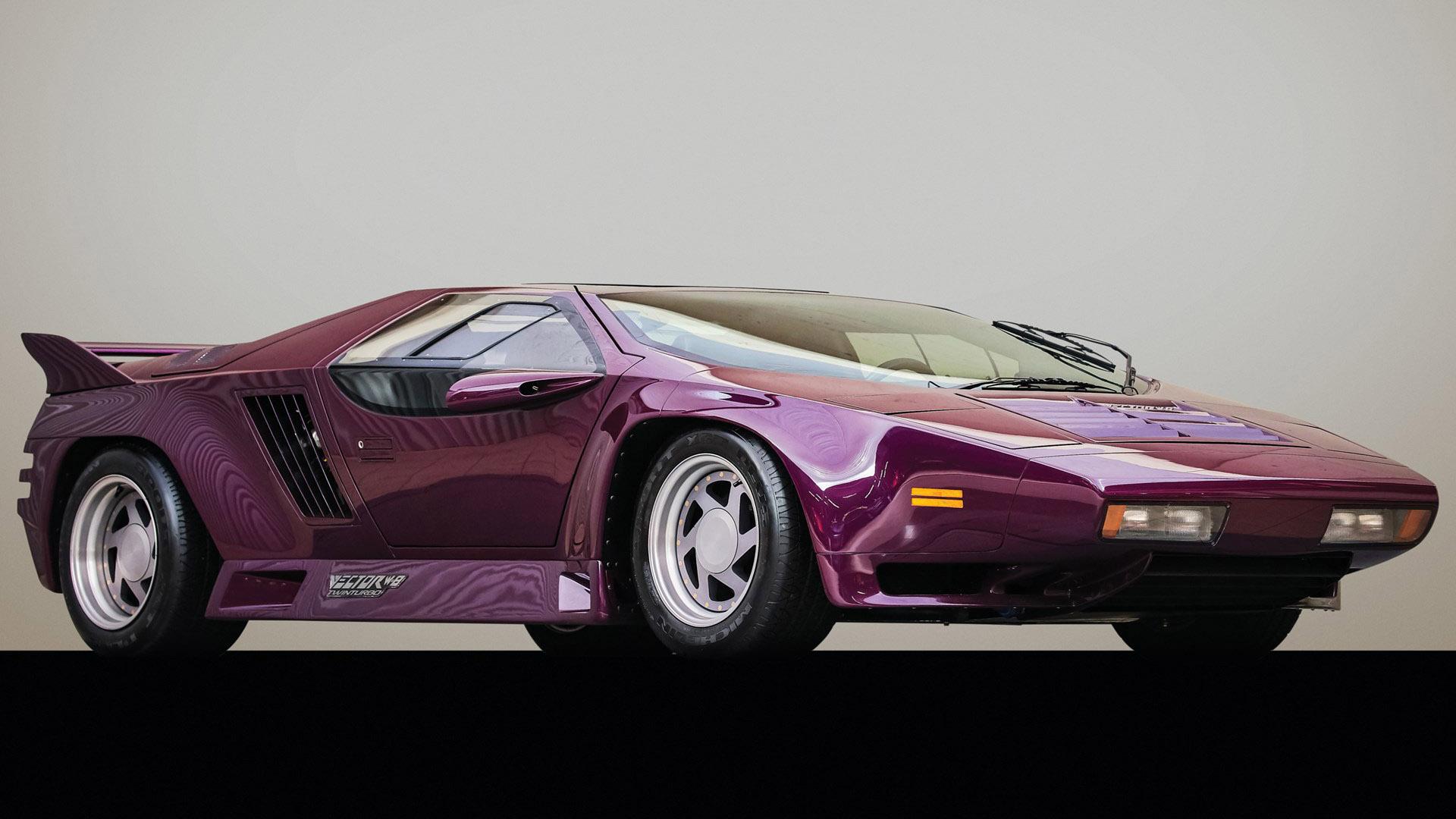 Buy This Purple 1991 Vector W8 Twin Turbo And Win Radwood