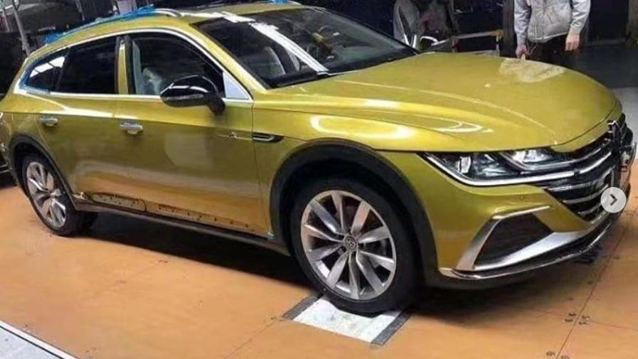volkswagen arteon wagon revealed in leaked photos