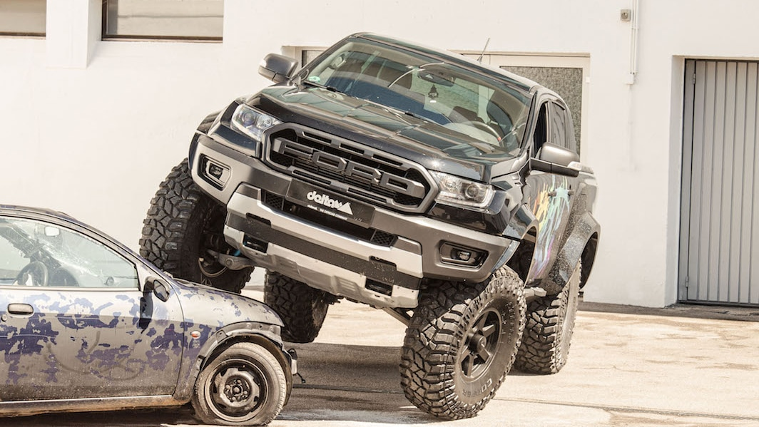 Delta4x4 S Ford Ranger Raptor Cribs Attitude From Its F 150 Raptor Big Bro